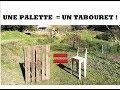 UNE PALETTE  =   UN TABOURET  !!!!
