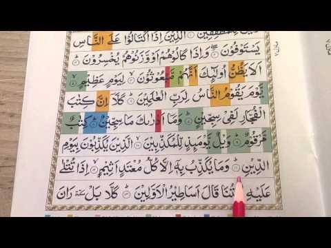 Surah Al-Mutaffifeen Part 1 with brief practical Tajweed