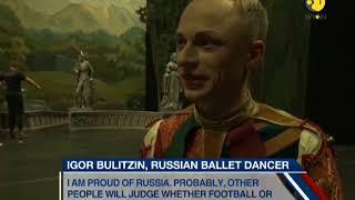 Football fans watch ballet in Russia