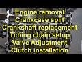 08-10 ZX10R Engine Job crankshaft chain timing and valve adjustment