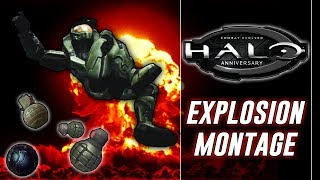 Grenade/Explosion Death Montage | Halo Combat Evolved (Funny Moments)