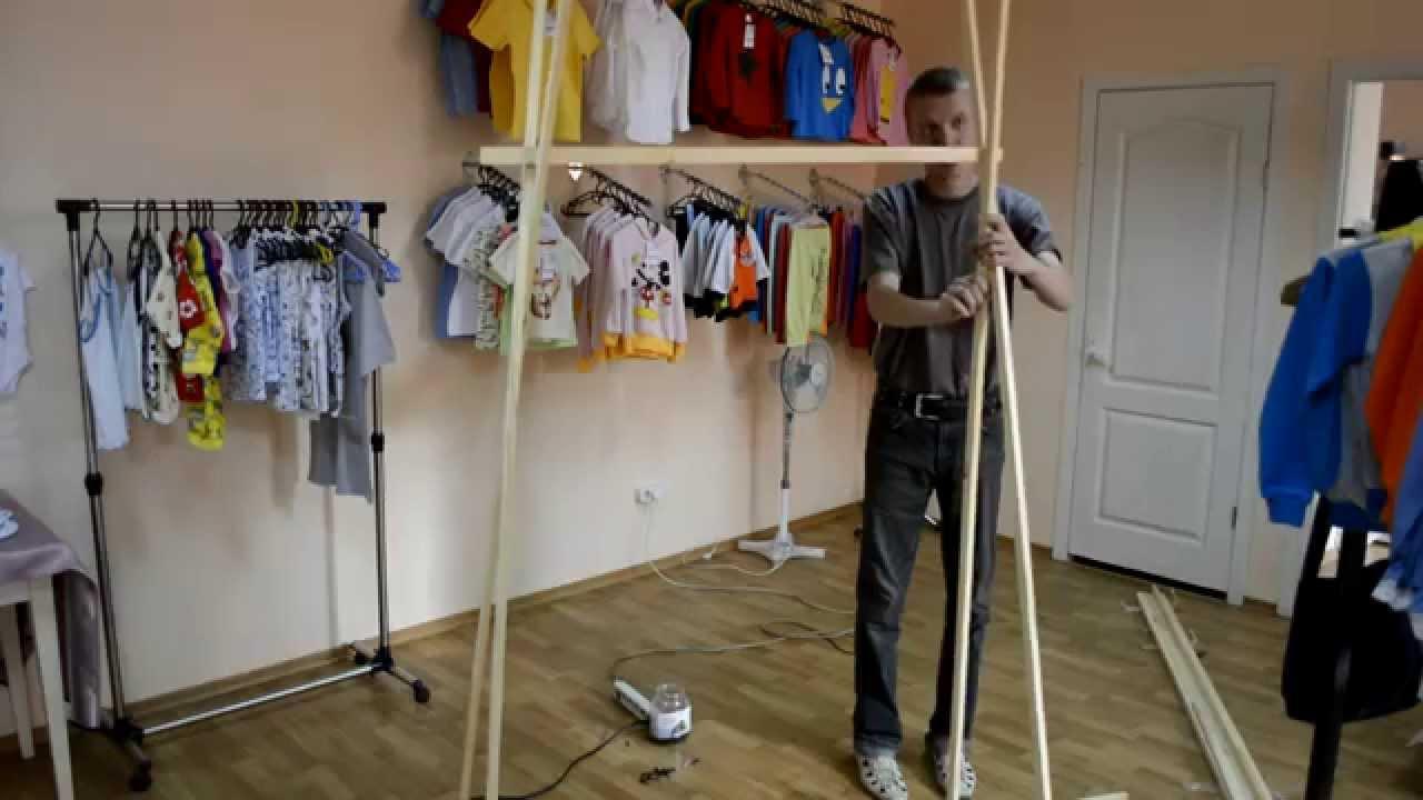 Как сделать вешалку стойку