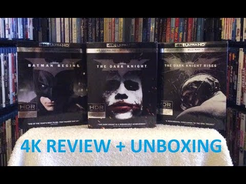 The Dark Knight Trilogy 4K ULTRA HD BLU RAY Review + Unboxing - UHD