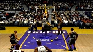 Kobe Scores 101 Points in 2 Minute Quarters - NBA Live 04 - PS2 Gameplay