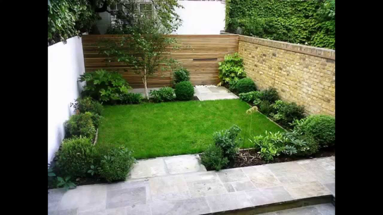Cool Small back garden designs - YouTube on Small Backyard Landscaping  id=57028