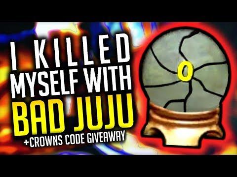 Wizard101: I KILLED MYSELF WITH BAD JUJU! (CROWNS CODE GIVEAWAY)