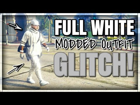GTA 5 ONLINE - DOPE! FULL WHITE MODDED OUTFIT GLITCH! 1.38 (MODDED OUTFIT USING GLITCHES) PATCH ...
