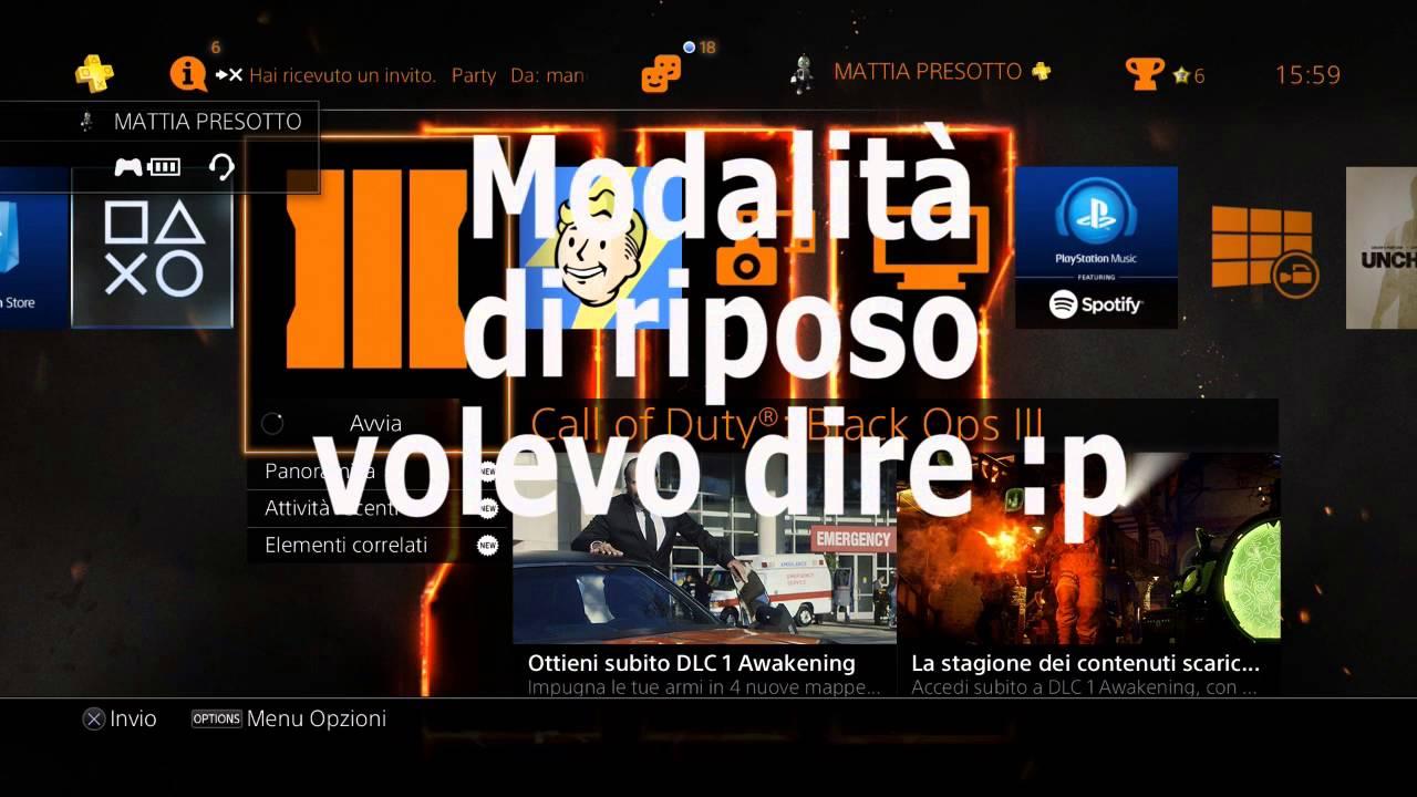 GIOCHI PS4 MODALITA RIPOSO SCARICARE
