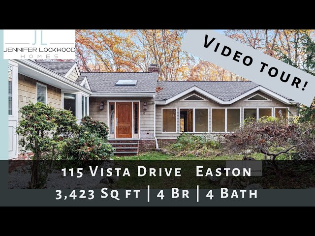 Easton CT Home Real Estate for Sale | Video Tour of 115 Vista Drive Easton
