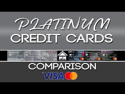 Credit Cards Philippines l PLATINUM Credit Cards Comparison l Visa and Mastercard