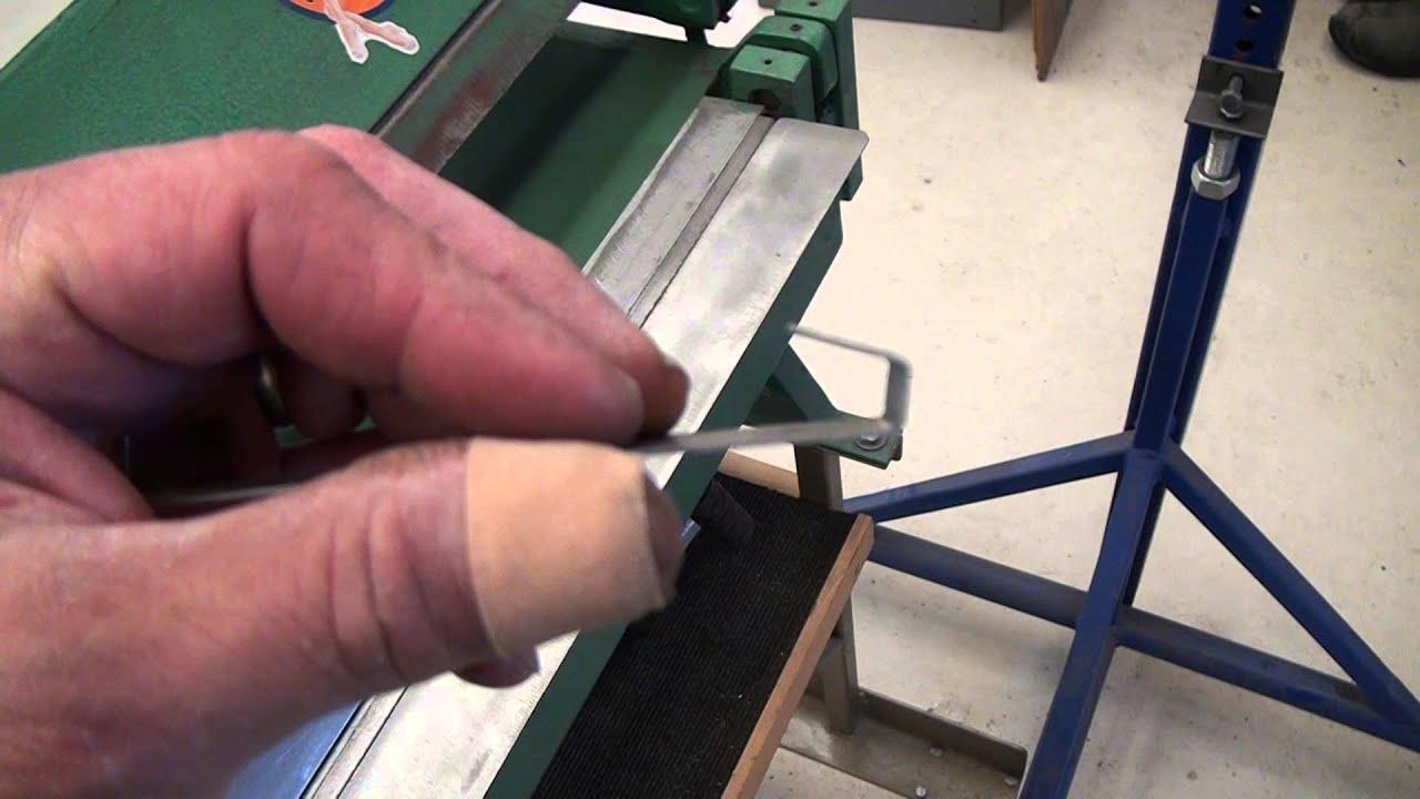 Homemade 12 Inch Sheet Metal Bending Brake Youtube