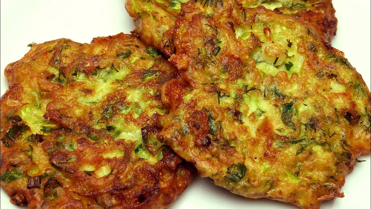 Fried Zucchini Cakes Recipe (With Feta Cheese) - YouTube