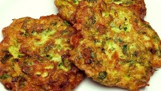 Fried Zucchini Cakes Recipe (with Feta Cheese)