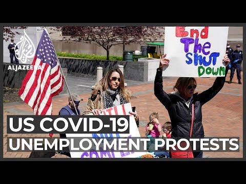 US virus deaths near 35,000; worst unemployment numbers
