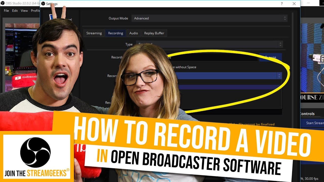 How to record videos in OBS - StreamGeeks