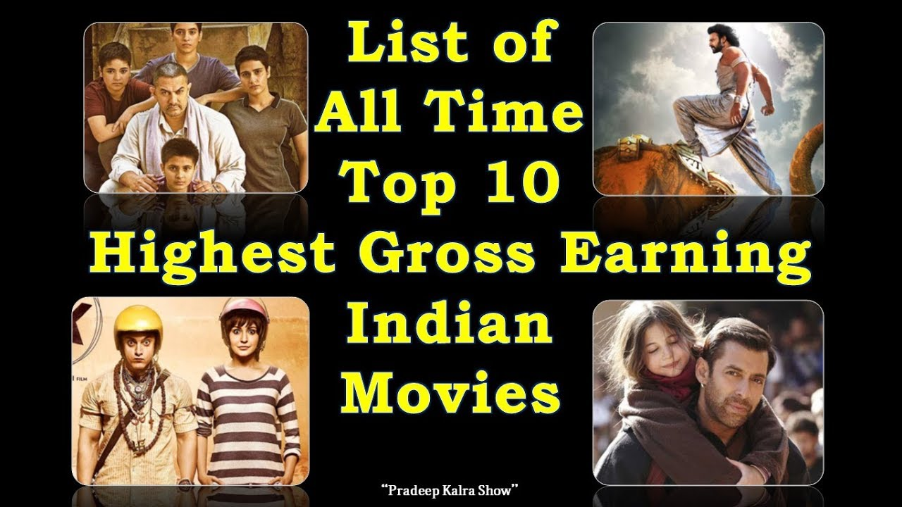 Top 10 most grossing films in the world