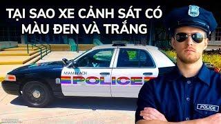 Tại sao xe cảnh sát thường có màu đen và trắng