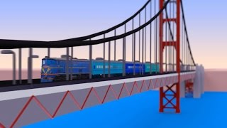 VIDS for KIDS in 3d (HD) - Trains for Children and Bridges - AApV