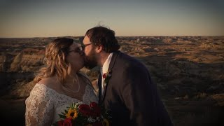 Badlands Wedding Film || Elaine's Garden, Medora, ND
