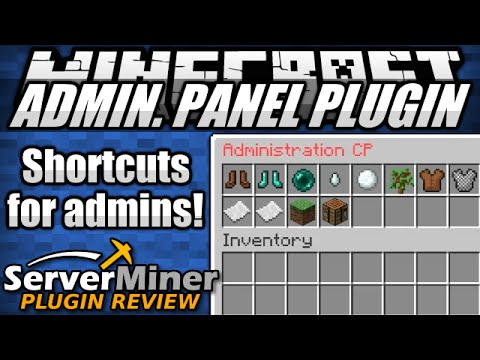 How to add tools for Server Admins in Minecraft with Admin Panel