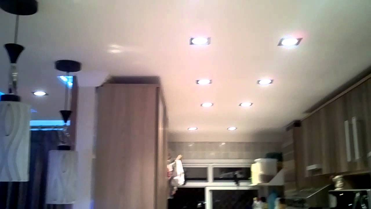 Famosos Sanca Gesso Rebaixamento de teto na Cozinha e hal de entrada - YouTube ZN01