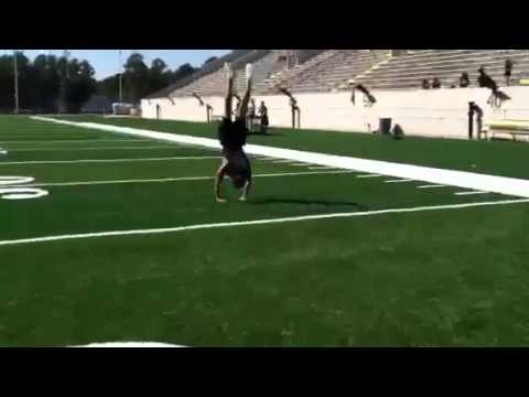 World Record - most backhandsprings in a row Jack Payne