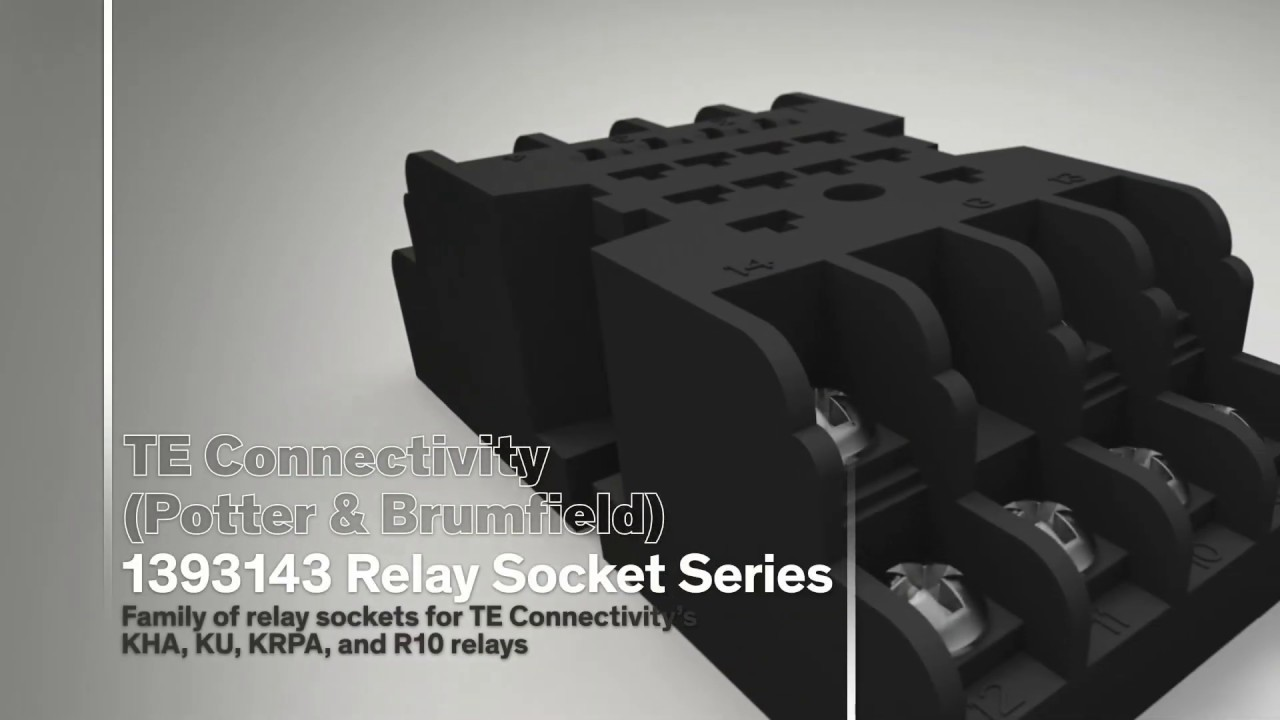 TE Connectivity's 1393143 Relay Socket Range on