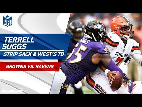 Terrell Suggs' Strip Sack on Kizer & Terrance West's TD | Browns vs. Ravens | NFL Wk 2 Highlights