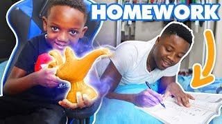 Super Siah Does MAGIC To MAKE SUPER DAD Do His HOMEWORK