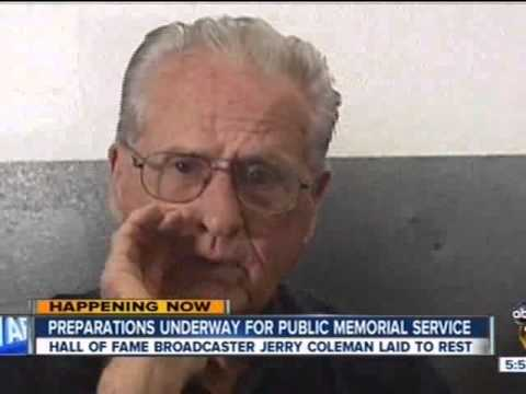 ABC - Coverage or Jerry Coleman funeral and interment ceremony at Miramar and in San Diego