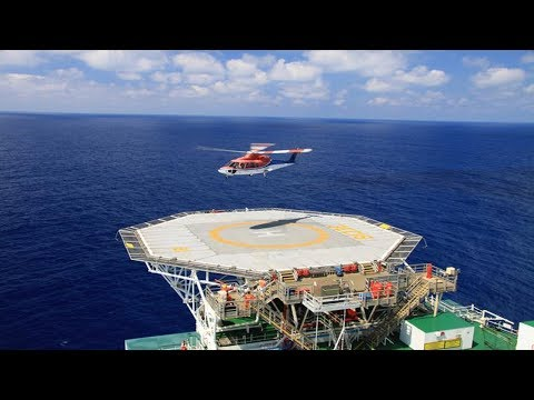 Helicopter Landing on Offshore Platform