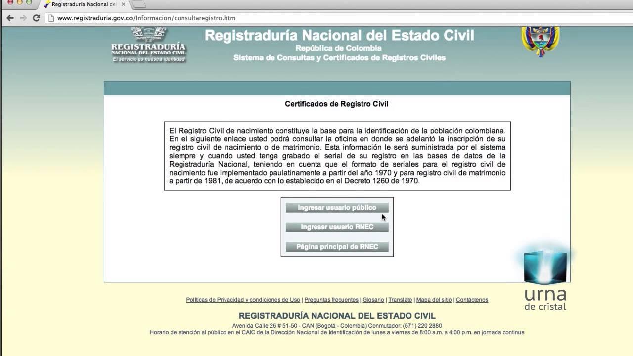 Obtén el duplicado de tu registro civil en internet - YouTube