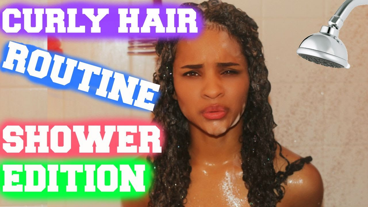 styling curly hair after shower curly hair routine in the shower 3806