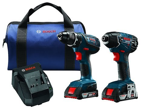 Review Bosch CLPK232A-181 18V Lithium-Ion Cordless Drill (2.0 Ah Batteries)