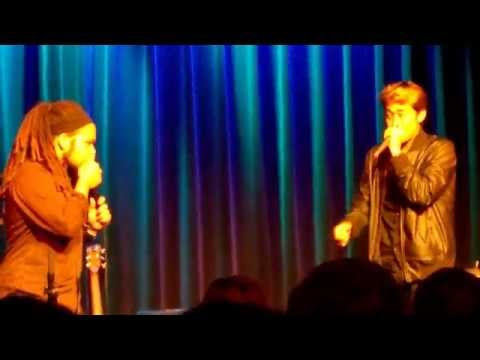 Gene Shinozaki and Tracy Robertson perform at Berklee College of Music