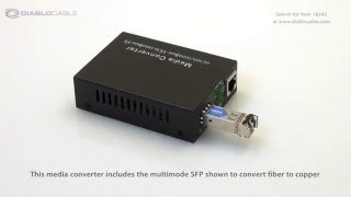 Multimode Fiber to RJ45 Copper Media Converter