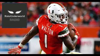 Mark Walton and John Kelly will be excellent values in the NFL Draft