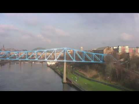 Leaving Newcastle Central Station and Crossing the River Tyne - February 2010