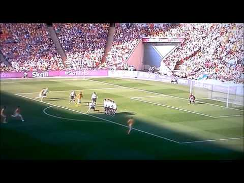 Ryan Donaldson Cambridge United, Wembley, Conference play off Final 2014. 2nd goal Ryan Donaldson.