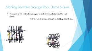 Monkey Bars Bike Storage Rack Stores 6 Bikes - Bike Racks For Garage