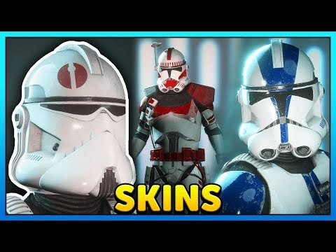 ALL Clone Trooper Skins - 501st, Coruscant Guard Gameplay - Star Wars Battlefront 2 thumbnail