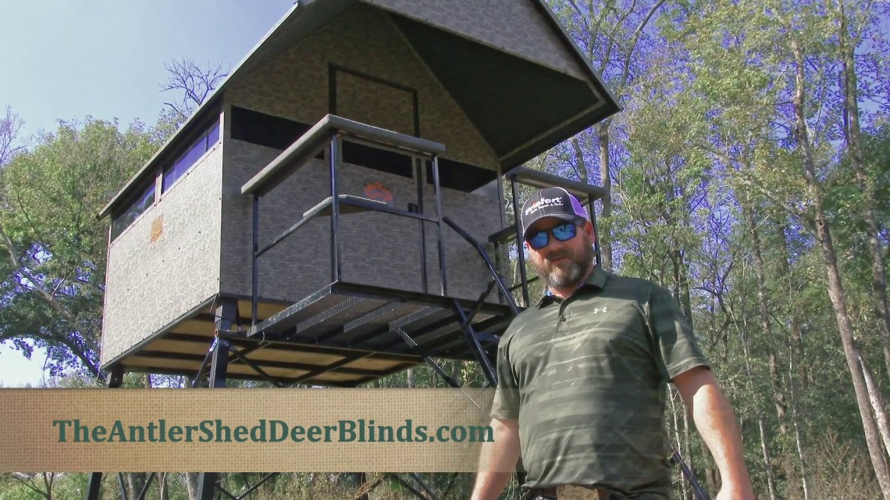 331d61636f9 The Antler Shed Deer Blind - YouTube