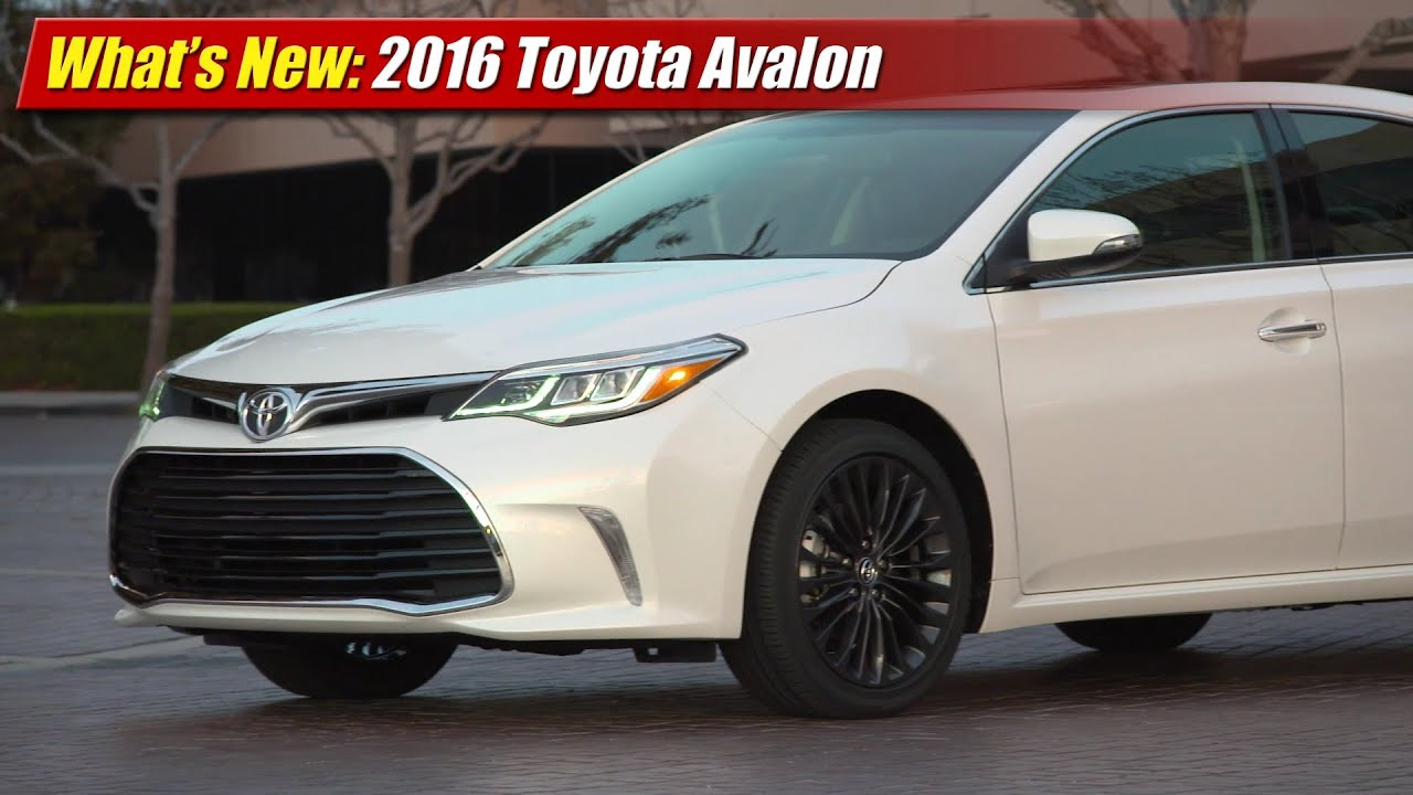 What S New 2016 Toyota Avalon