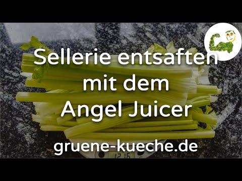 Staudensellerie entsaften mit dem Angel Juicer