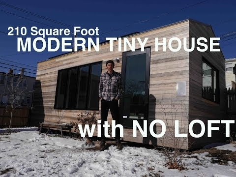 Brian Levy's 210 Square Foot MODERN Tiny House- WITH NO LOFT!
