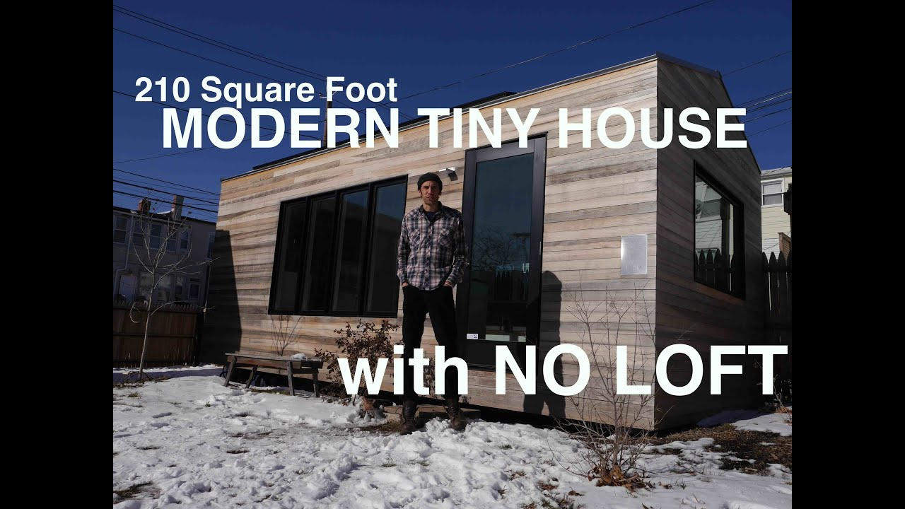 Brian Levys 210 Square Foot MODERN Tiny House WITH NO LOFT