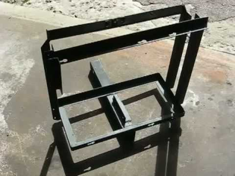 Diy Welded Trailer Hitch Mount 5 Gallon Gas Can Carrier