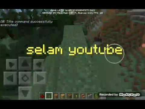 Minecraft Pe   KOMUT Bloğu İle Ekrana Yazı Yazma