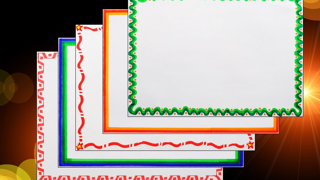 How to decorate borders of project files 5 attractive borders for how to decorate borders of project files 5 attractive borders for project part 2 thecheapjerseys Images