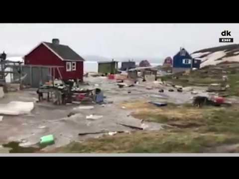 Stor evakuering i gang efter oversvømmelser i Grønland